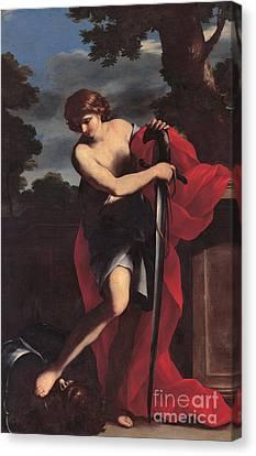 David Canvas Print by Giovanni Francesco Romanelli