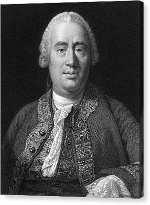 David Hume, Scottish Philosopher Canvas Print by Middle Temple Library