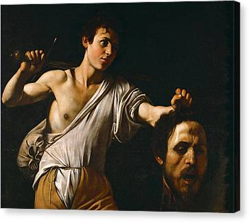 David With The Head Of Goliath Canvas Print by Caravaggio