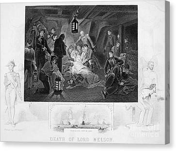 Death Of Nelson, 1805 Canvas Print by Granger