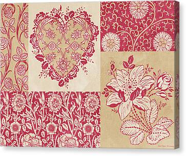 Deco Heart Red Canvas Print by JQ Licensing