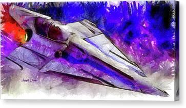 Delta-12 Skysprite - Pencil Style Canvas Print by Leonardo Digenio