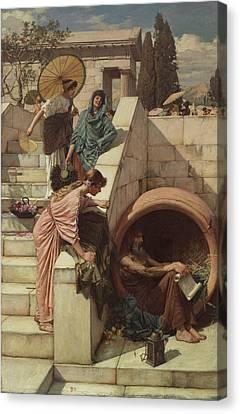 Diogenes Canvas Print by John William Waterhouse