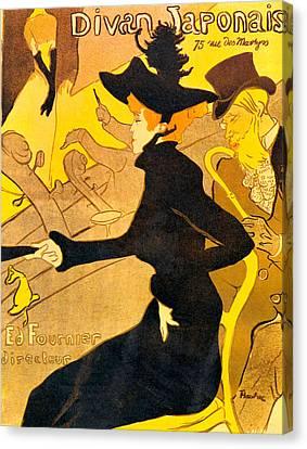 Divan Japonais Canvas Print by Toulouse Lautrec