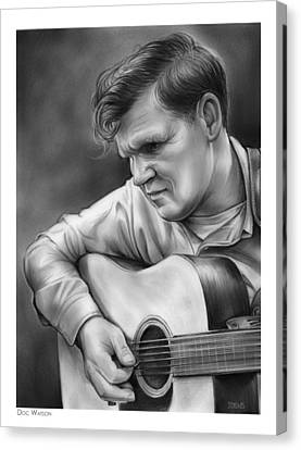 Doc Watson Canvas Print by Greg Joens