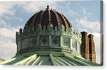 Dome On The Asbury Park Casino Canvas Print by Ben Schumin