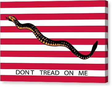 Don't Tread On Me Canvas Print by American School