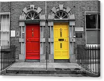 Doors In Kilkenny In Ireland Canvas Print by Andreas Berthold