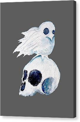 Dove And Skull Canvas Print by Daniel P Cronin