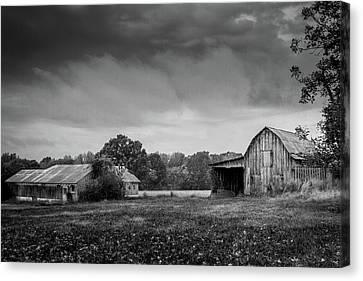 Down On The Farm Canvas Print by Barry Jones