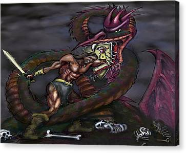 Dragonslayer Canvas Print by Kevin Middleton