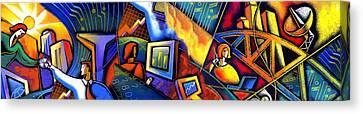 E-business Canvas Print by Leon Zernitsky