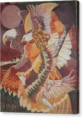 Eagle Medicine Canvas Print by Pamela Mccabe