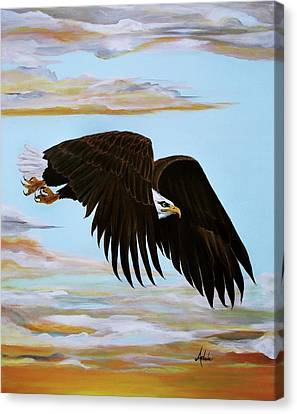 Eagle Stealth Canvas Print by Adele Moscaritolo