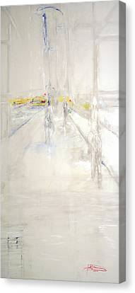Early Winter In Manhattan Canvas Print by Jack Diamond