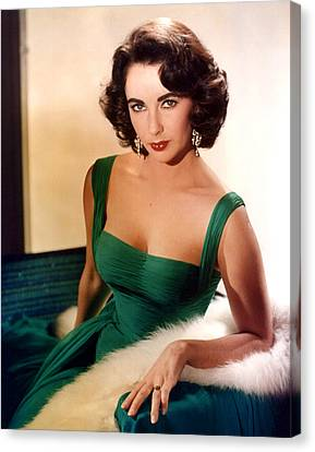 Elizabeth Taylor Canvas Print by American School