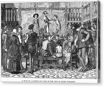 Elizabethan Theatre Canvas Print by Granger