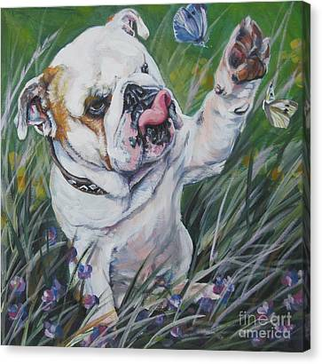 English Bulldog Canvas Print by Lee Ann Shepard