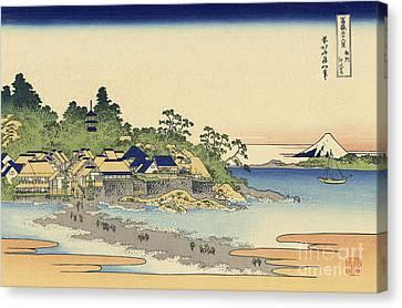 Enoshima In Sagami Province Canvas Print by Katsushika Hokusai