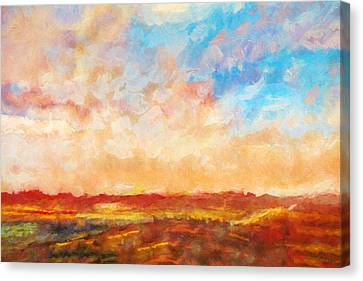 Evening Sky Canvas Print by Lutz Baar
