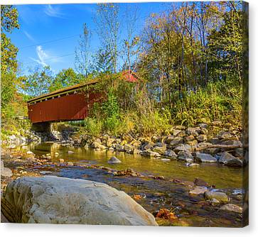 Everett Covered Bridge  Canvas Print by Jack R Perry