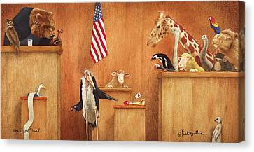 Ewe Is On Trial... Canvas Print by Will Bullas