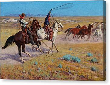 Fading Horses Canvas Print by Richard Lorenz