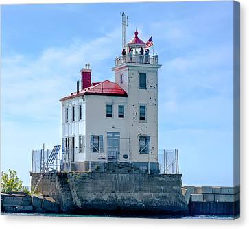 Fairport Harbor Lighthouse Canvas Print by Jack R Perry