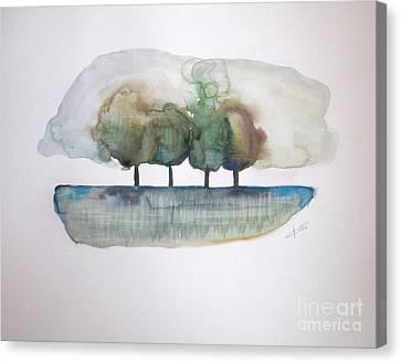 Family Trees Canvas Print by Vesna Antic