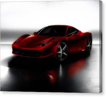 Ferrari 458 Canvas Print by Brian Reaves