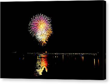 Fireworks Canvas Print by Mark Madion