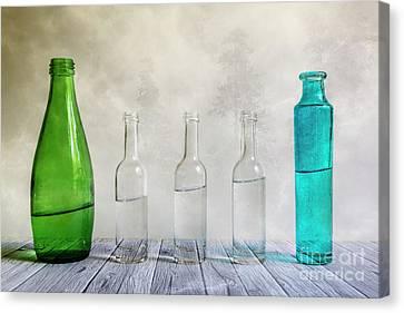 Five Bottles Canvas Print by Veikko Suikkanen