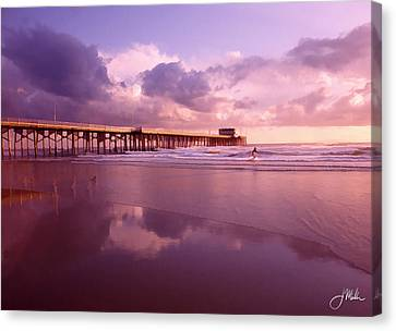Florida Gold Coast Pier Canvas Print by Joshua Miller