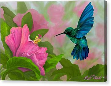 Flying Colors Canvas Print by Leslie Rhoades