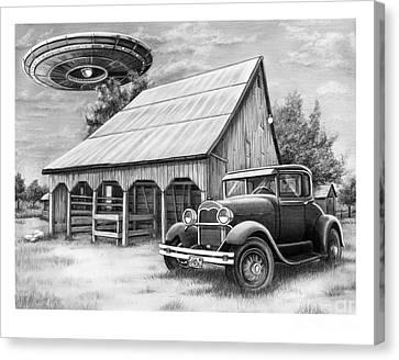 Flying Saucer Canvas Print by Murphy Elliott