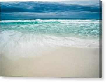 Foaming Waves Canvas Print by Shelby  Young