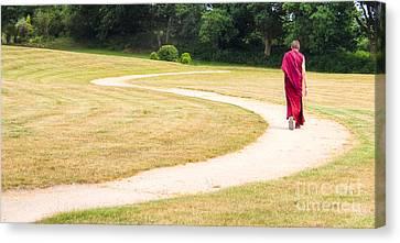 Following Buddha Canvas Print by Sophie De Roumanie