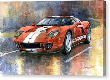 Ford Gt 40 2006  Canvas Print by Yuriy  Shevchuk