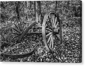 Forgotten Wagon Canvas Print by Tom Mc Nemar
