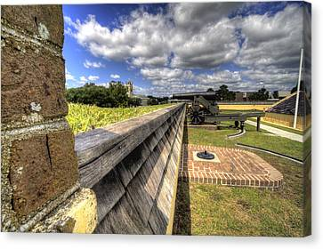 Fort Moultrie Cannon Canvas Print by Dustin K Ryan