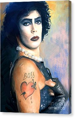 Frank N. Furter Canvas Print by Dori Hartley