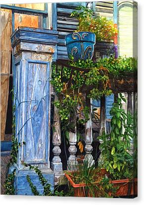 French Quarter Porch Canvas Print by John Boles