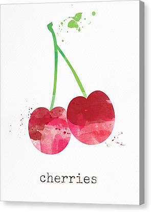 Fresh Cherries Canvas Print by Linda Woods