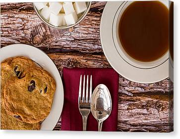 Freshly Baked Chocolate Chip Cookies And Coffee #1 Canvas Print by Jon Manjeot