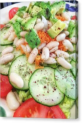 Freshly Made Salad Canvas Print by Tom Gowanlock