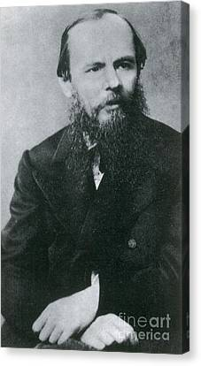 Fyodor Dostoyevsky, Russian Author Canvas Print by Photo Researchers
