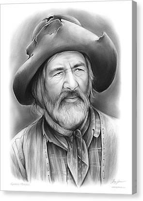 Gabby Hayes Canvas Print by Greg Joens