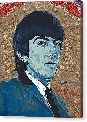 George Harrison Canvas Print by Suzanne Gee