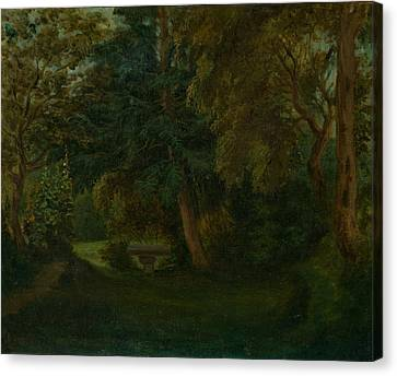 George Sand's Garden At Nohant Canvas Print by Eugene Delacroix