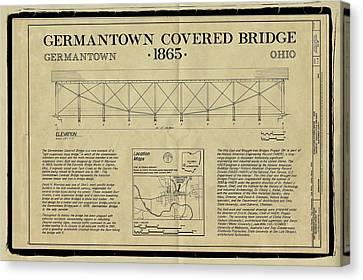 Germantown Covered Bridge Canvas Print by Jack R Perry